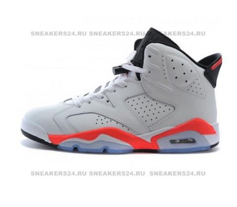 Кроссовки Nike Air Jordan VI White/Coral