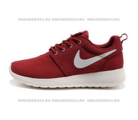 Кроссовки Nike Roshe Run Material Burgundy/White