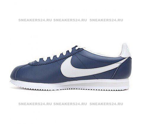 Кроссовки Nike Leather Cortez Dark Blue/Grey