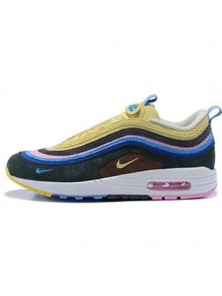 Кроссовки Nike Air Max 97 Light Blue/Fury Lemon
