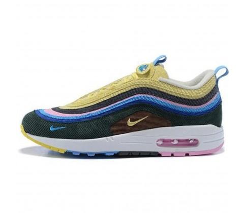 Кроссовки Nike Air Max 97 Light Blue/Fury Lemon