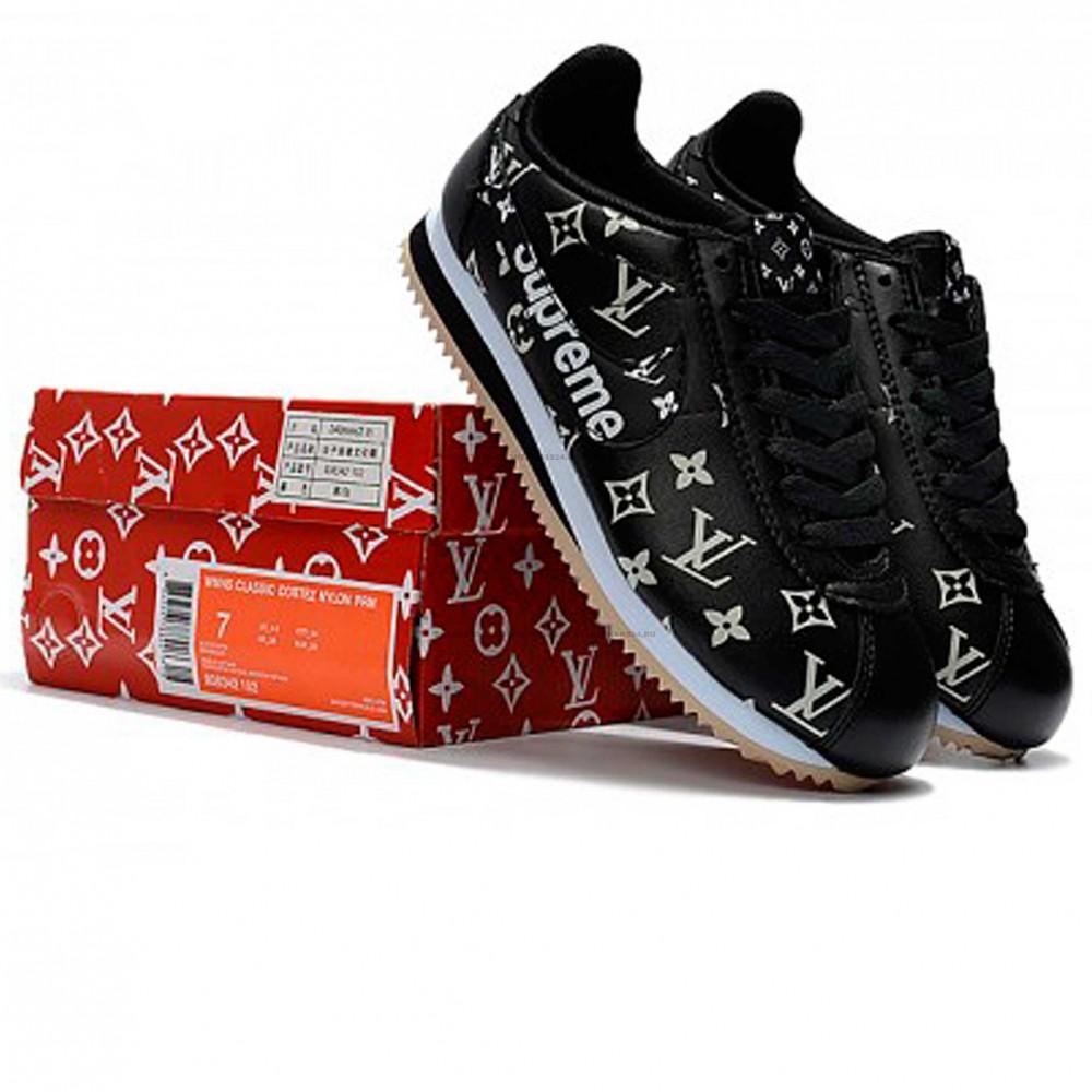 various colors 4140b f20bf Кроссовки Nike Cortez x Supreme Black/Gum