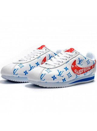Кроссовки Nike Cortez x Supreme White/Red