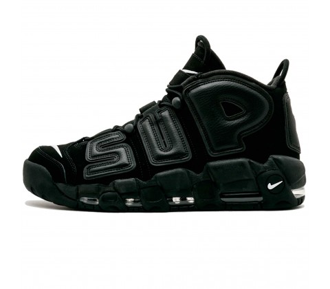 Кроссовки  Nike Air More Uptempo x Supreme Black