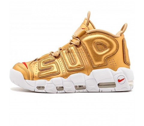 Кроссовки Nike Air More Uptempo Supreme Gold/White