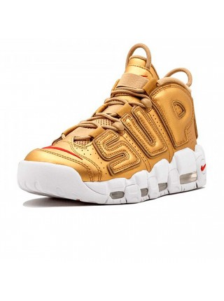 Кроссовки Nike Air More Uptempo Supreme Gold/White