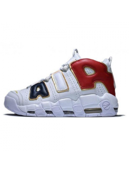 Кроссовки Nike Air More Uptempo White/Black/Red