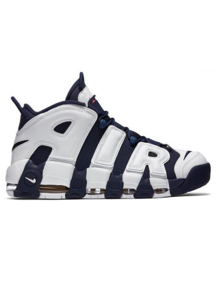 Кроссовки Nike Air More Uptempo White/Mid Night Navy