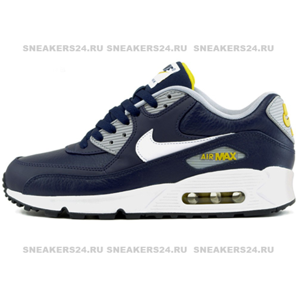 d1d73b97f5f695 Кроссовки Nike Air Max 90 Premium Blue/Yellow