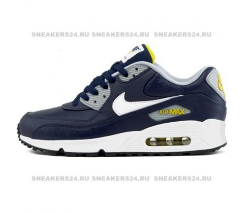 Кроссовки Nike Air Max 90 Premium Blue/Yellow