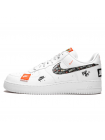 Кроссовки Nike Air Force 1'07 White/Black Total Orange