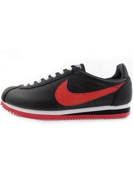 Кроссовки Nike Cortez New Collection All Black/Red