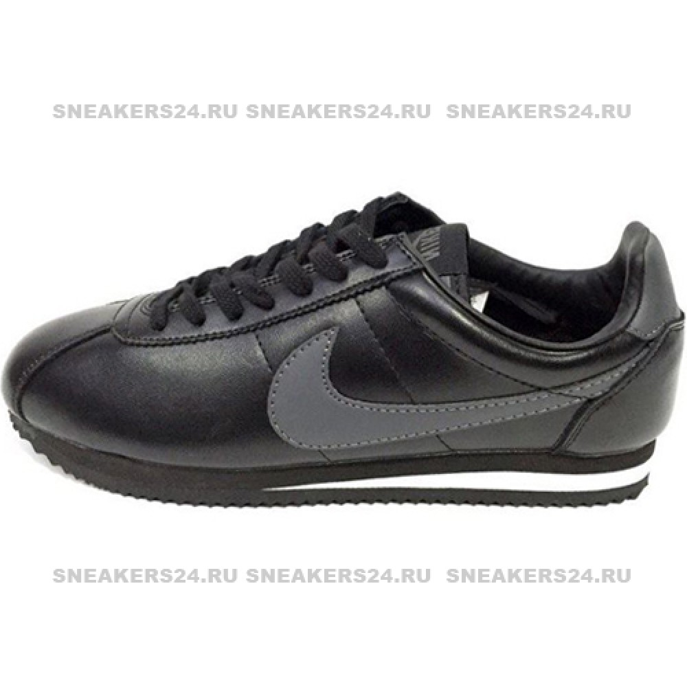 4b5261fb Кроссовки Nike Cortez New Collection All Black/Gray