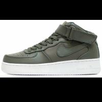 Кроссовки Nike Air Force 1 Mid Leather Khaki
