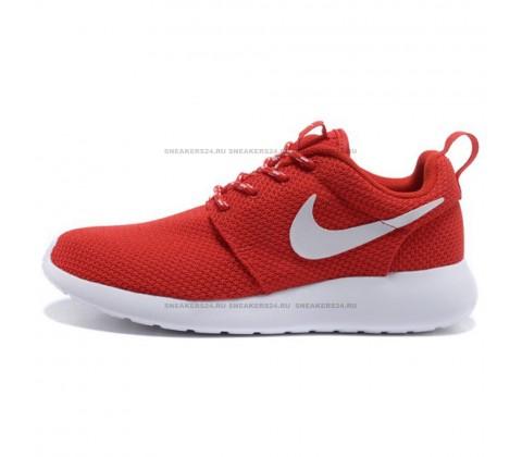 Кроссовки Nike Roshe Run Material Red/White
