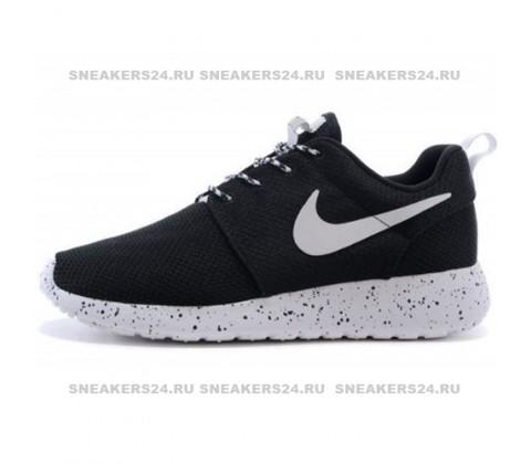 Кроссовки Nike Roshe Run Noir Blanc Supreme Black/White