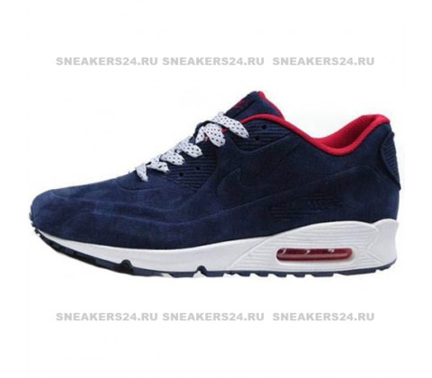 Кроссовки Nike Air Max 90 Blue/Red With Fur