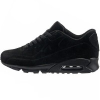 Кроссовки Nike Air Max 90 All Black With Fur
