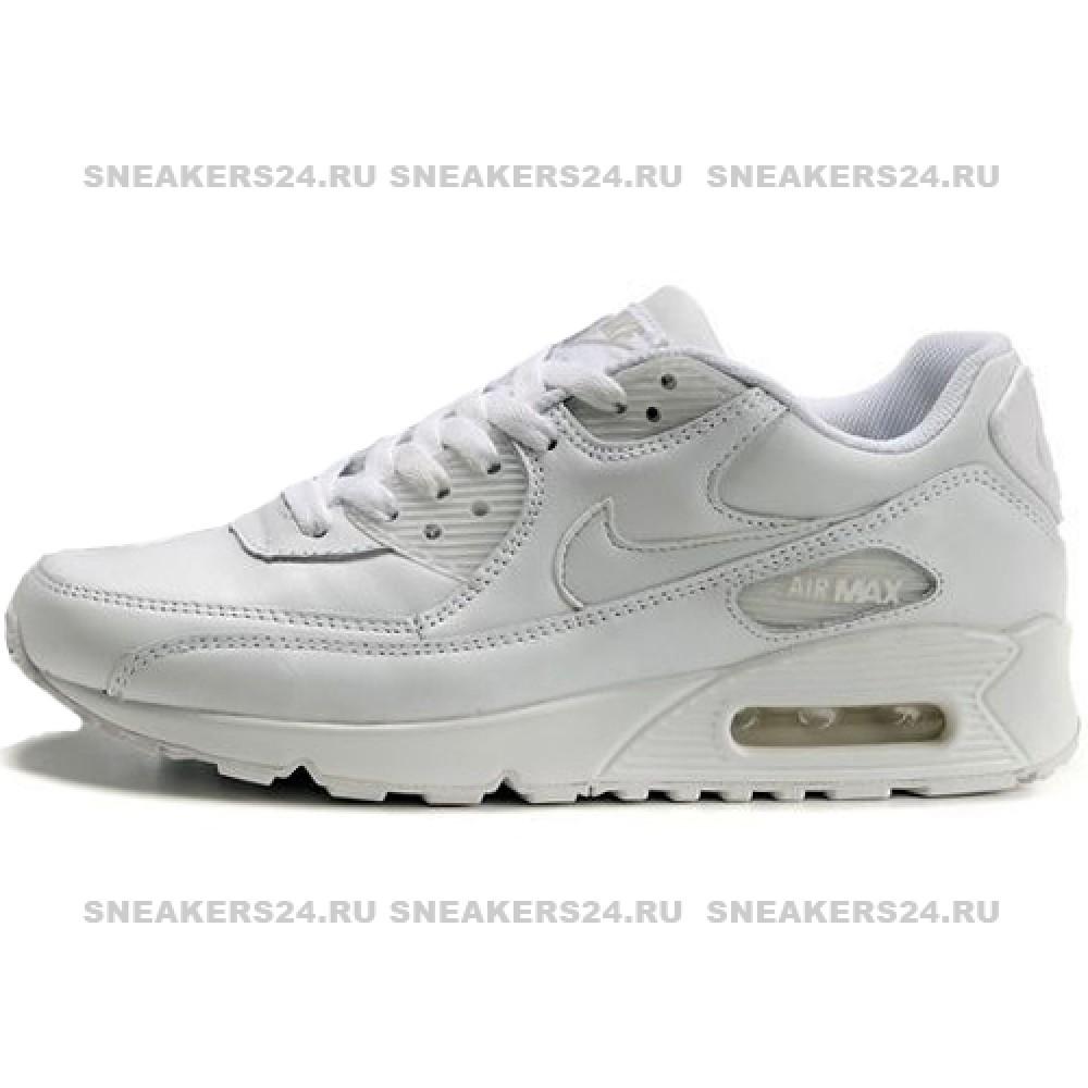 56003694 Кроссовки Nike Air Max 90 White With Fur - Зимние с мехом