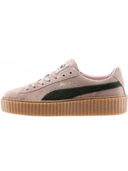 Кроссовки Puma by Rihanna Pink with Green Stripe