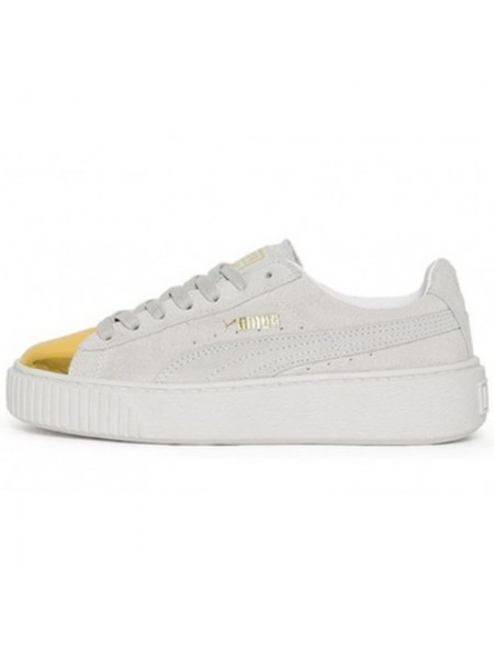 Кроссовки Puma Creeper Suede Platform Gold Star-White