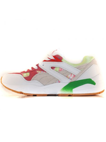 Кроссовки Puma Trinomic R698 Patina White/Red/Green