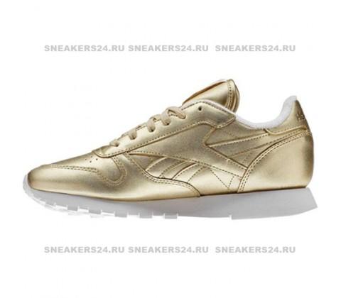 Кроссовки Reebok x FACE Stockholm Classic Spirit Gold