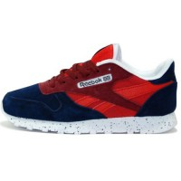 Кроссовки Reebok Classic Leather Dark Blue/Red