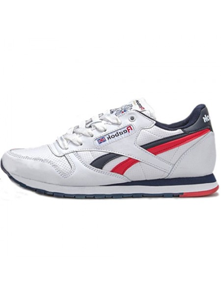 Кроссовки Reebok Classic Leather White/Blue/Red/Camo