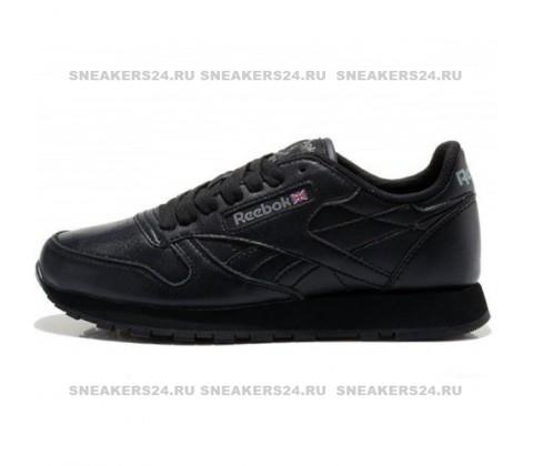 Кроссовки Reebok Classic Leather All Black