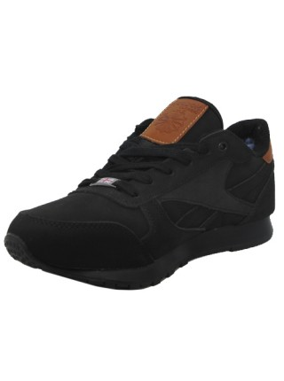 Кроссовки Reebok Classic All Black With Fur