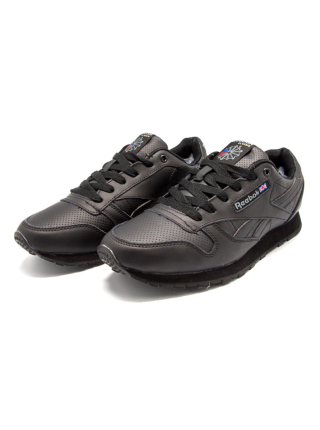 Кроссовки Reebok Classic All Dark Black With Fur