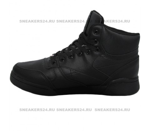 Кроссовки Reebok Classic High All Black With Fur