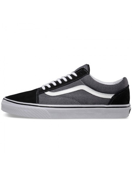Кеды Vans Low Old Skool Grey/Black Suede