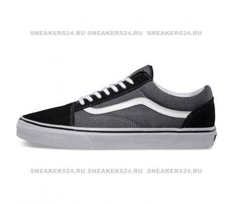 Кеды Vans Low Old Skool Grey/Black Suede