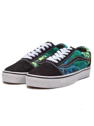 "Vans ""Old Skool"" Low Black/Green-Yellow"