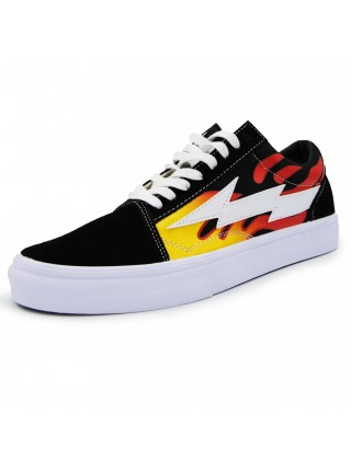 Кеды Vans Old Skool Black/White Flame