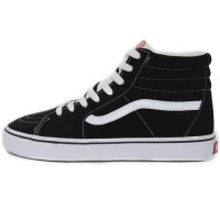 Кеды Vans Old Skool High Black/White With Fur