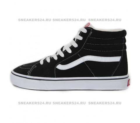 Кеды Vans Old Skool High Black/White With Fur