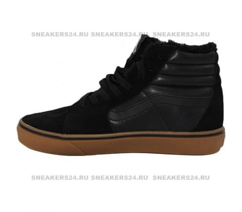 Кеды Vans Old Skool High Black With Fur