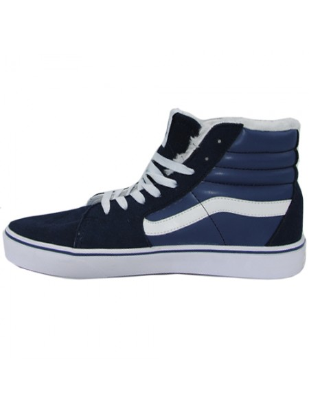 Кеды Vans Old Skool High Blue With Fur