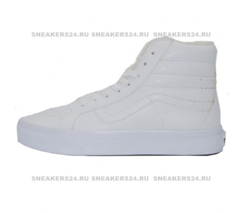 Кеды Vans Old Skool High All White With Fur