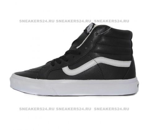 Кеды Vans Old Skool High Black/White With White Fur